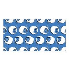 Sheep Pattern Wallpaper Vector Satin Shawl