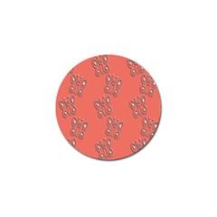 Butterfly Pink Pattern Wallpaper Golf Ball Marker (4 Pack)