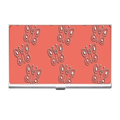 Butterfly Pink Pattern Wallpaper Business Card Holders