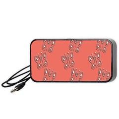 Butterfly Pink Pattern Wallpaper Portable Speaker (black)
