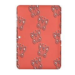 Butterfly Pink Pattern Wallpaper Samsung Galaxy Tab 2 (10 1 ) P5100 Hardshell Case