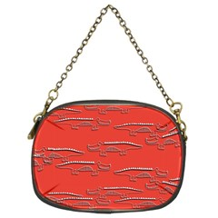 Crocodile Alligator Pattern Chain Purses (two Sides)