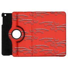 Crocodile Alligator Pattern Apple Ipad Mini Flip 360 Case