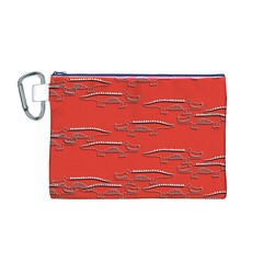 Crocodile Alligator Pattern Canvas Cosmetic Bag (m)
