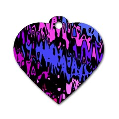 Modern Abstract 46b Dog Tag Heart (one Side)