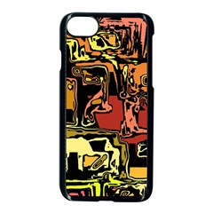 Modern Abstract 47c Apple Iphone 7 Seamless Case (black)