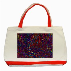 Modern Abstract 45a Classic Tote Bag (red)