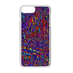 Modern Abstract 45a Apple Iphone 7 Plus White Seamless Case