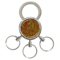 Modern Abstract 45c 3 Ring Key Chains