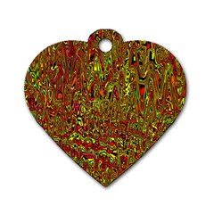 Modern Abstract 45c Dog Tag Heart (one Side)