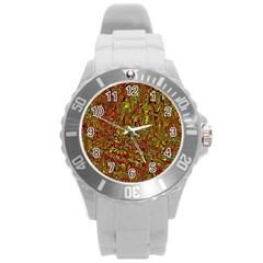 Modern Abstract 45c Round Plastic Sport Watch (l)