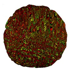 Modern Abstract 45c Large 18  Premium Round Cushions