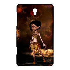 Steampunk, Cute Little Steampunk Girl In The Night With Clocks Samsung Galaxy Tab S (8 4 ) Hardshell Case