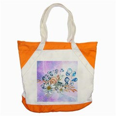 Snail And Waterlily, Watercolor Accent Tote Bag
