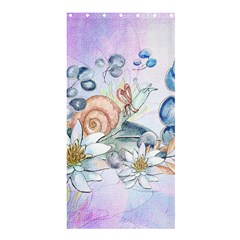 Snail And Waterlily, Watercolor Shower Curtain 36  X 72  (stall)