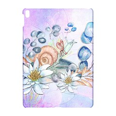 Snail And Waterlily, Watercolor Apple Ipad Pro 10 5   Hardshell Case