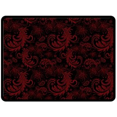 Dark Red Flourish Double Sided Fleece Blanket (large)