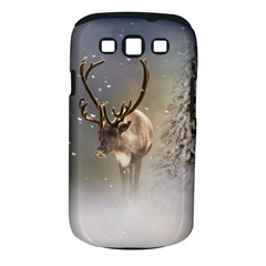 Santa Claus Reindeer In The Snow Samsung Galaxy S Iii Classic Hardshell Case (pc+silicone)