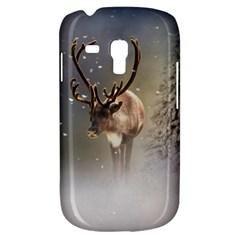 Santa Claus Reindeer In The Snow Samsung Galaxy S3 Mini I8190 Hardshell Case