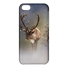 Santa Claus Reindeer In The Snow Apple Iphone 5c Hardshell Case
