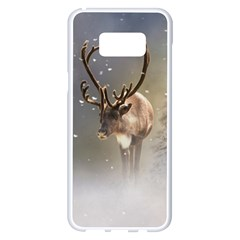 Santa Claus Reindeer In The Snow Samsung Galaxy S8 Plus White Seamless Case