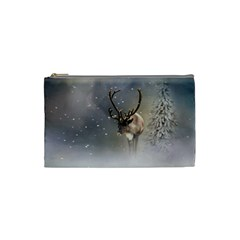 Santa Claus Reindeer In The Snow Cosmetic Bag (small)
