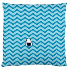 Chevron Shark Pattern Standard Flano Cushion Case (one Side)