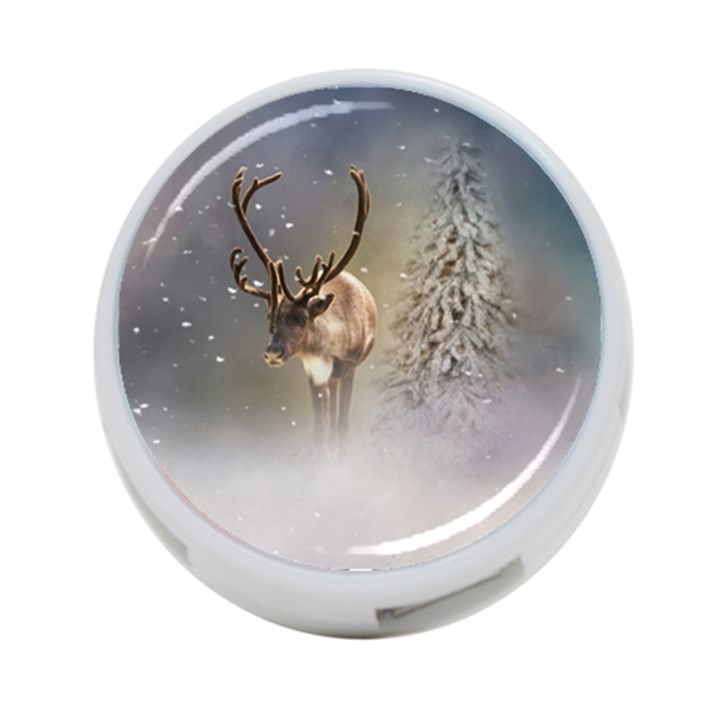 Santa Claus Reindeer In The Snow 4-Port USB Hub (Two Sides)