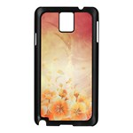 Flower Power, Cherry Blossom Samsung Galaxy Note 3 N9005 Case (Black) Front