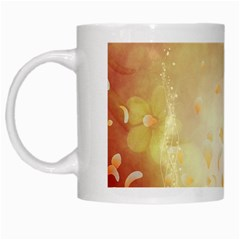 Flower Power, Cherry Blossom White Mugs