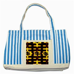 Give Me The Money Striped Blue Tote Bag