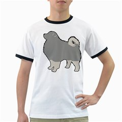 Keeshond Color Silo Ringer T Shirts