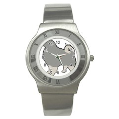 Keeshond Color Silo Stainless Steel Watch