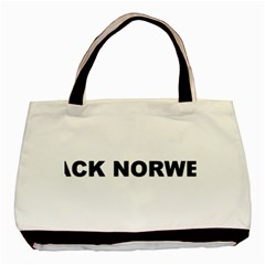 Black Norwegian Elkhound Love Basic Tote Bag (two Sides)
