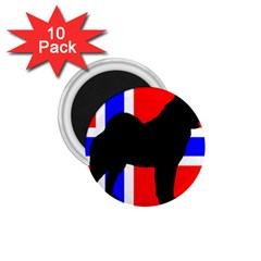 Elkie Silo On Norway Flag 1 75  Magnets (10 Pack)