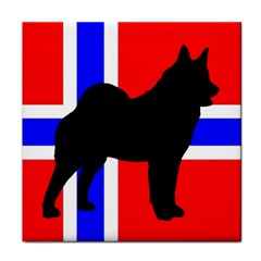 Elkie Silo On Norway Flag Face Towel