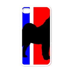 Elkie Silo On Norway Flag Apple Iphone 4 Case (white)