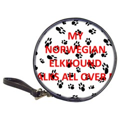 My Norwegian Elkhound Walks On Me Classic 20 Cd Wallets