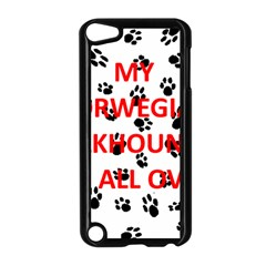 My Norwegian Elkhound Walks On Me Apple Ipod Touch 5 Case (black)