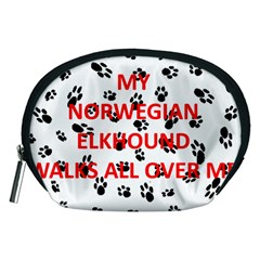 My Norwegian Elkhound Walks On Me Accessory Pouches (medium)