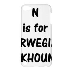 N Is Norwegian Elkhound Apple Ipod Touch 5 Hardshell Case