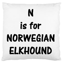 N Is Norwegian Elkhound Large Flano Cushion Case (two Sides)