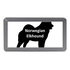 Norwegian Elkhound  Name Silo Black Memory Card Reader (mini)