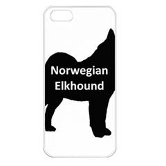 Norwegian Elkhound  Name Silo Black Apple Iphone 5 Seamless Case (white)