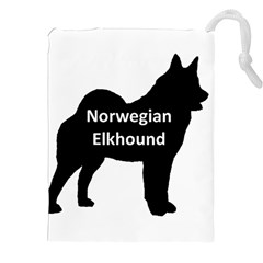 Norwegian Elkhound  Name Silo Black Drawstring Pouches (xxl)