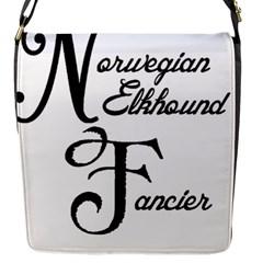 Norwegian Elkhound Fancier Flap Messenger Bag (s)