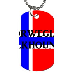 Norwegian Elkhound Name Norway Flag Dog Tag (two Sides)