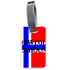 Norwegian Elkhound Name Norway Flag Luggage Tags (two Sides)