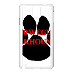 Norwegian Elkhound Name Paw Samsung Galaxy Note 3 N9005 Case (white)