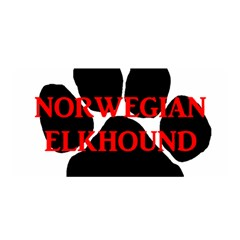 Norwegian Elkhound Name Paw Satin Wrap